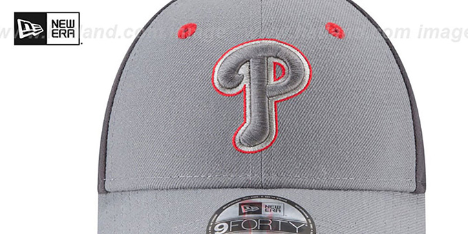 Phillies 'THE-LEAGUE GREY-POP STRAPBACK' Hat by New Era
