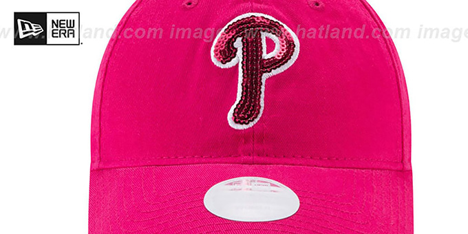 Phillies 'WOMENS MOTHERS DAY GLIMMER STRAPBACK' Pink Hat by New Era