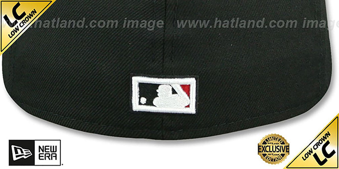 Pirates '1998 LOW-CROWN VINTAGE' Black-Red Fitted Hat by New Era