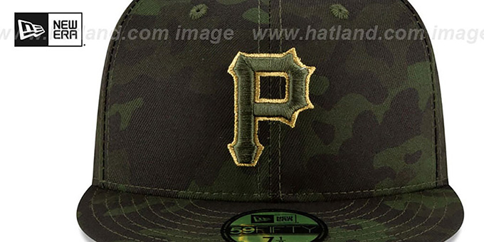 Pirates 2019 ARMED FORCES 'STARS N STRIPES' Hat by New Era