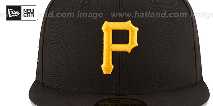 Pirates 5X 'TITLES SIDE-PATCH' Black Fitted Hat by New Era