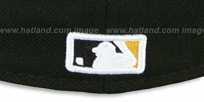 Pirates 'CHENILLE APPLIQUE' Black Fitted Hat by New Era