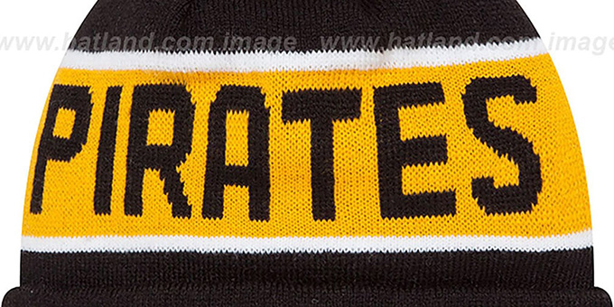Pirates 'THE-COACH' Black Knit Beanie Hat by New Era