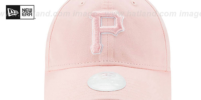 Pirates 'WOMENS PREFERRED PICK STRAPBACK' Light Pink Hat by New Era