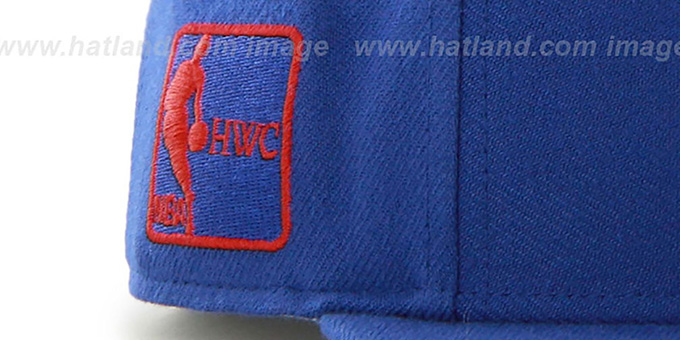 Pistons 'SURE-SHOT SNAPBACK' Royal Hat by Twins 47 Brand