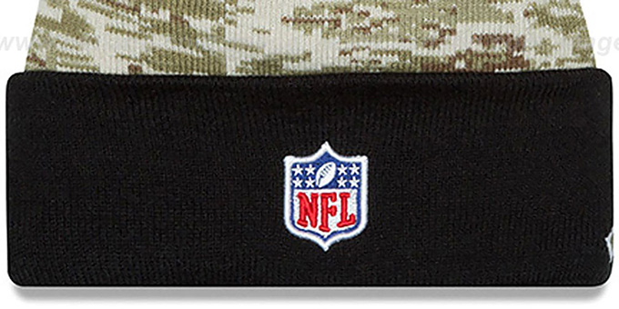 Raiders '2015 SALUTE-TO-SERVICE' Knit Beanie Hat by New Era