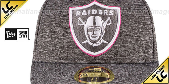 Raiders '2016 LOW-CROWN BCA' Grey Fitted Hat by New Era