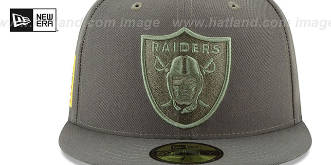 1ae2bb31f ... Raiders  2017 SALUTE-TO-SERVICE  Green Fitted Hat by New Era ...