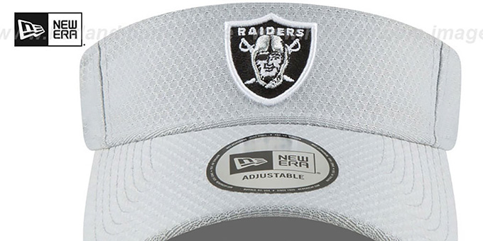 Raiders '2018 NFL TRAINING VISOR' Grey by New Era