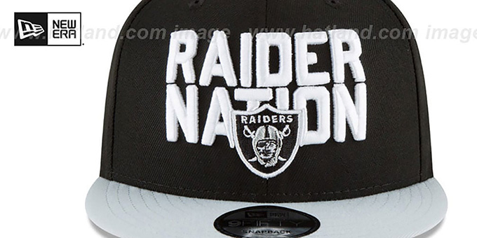 Raiders '2018 SPOTLIGHT SNAPBACK' Black-Grey Hat by New Era