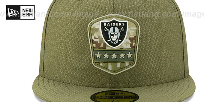 Raiders '2019 SALUTE-TO-SERVICE' Olive Fitted Hat by New Era