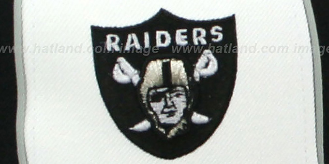 Raiders 'AFC DOUBLE LOGO' White-Black Fitted Hat by Reebok