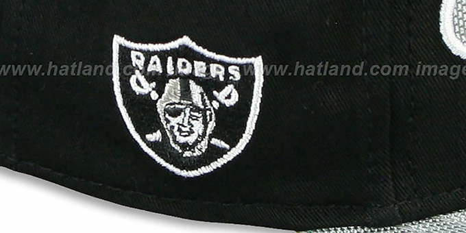 Raiders 'BALLISTIC SCRIPT A-FRAME STRAPBACK' Black-Grey Hat by New Era