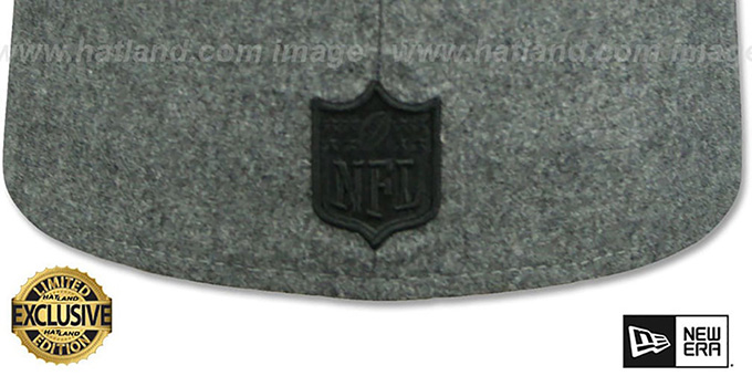 Raiders 'BLACK METAL-BADGE' Melton Grey Fitted Hat by New Era