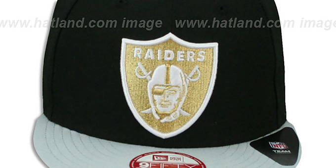 Raiders 'CHAMPS-HASH SNAPBACK' Black-Grey Hat by New Era