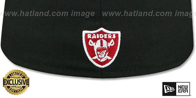 Raiders 'GOTHIC TEAM-BASIC' Black-Red Fitted Hat by New Era