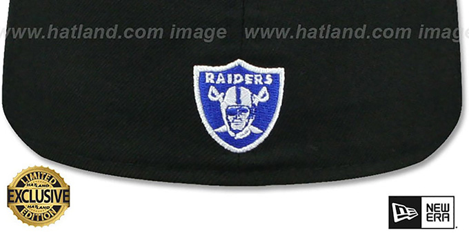 Raiders 'GOTHIC TEAM-BASIC' Black-Royal Fitted Hat by New Era