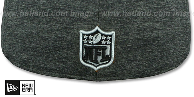 Raiders 'HEATHER-HUGE' Grey-Black Fitted Hat by New Era