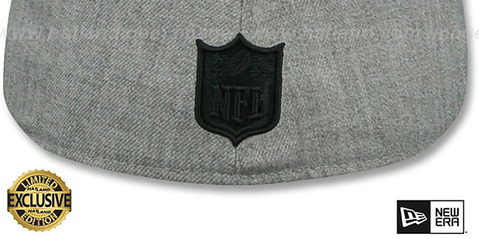 Raiders 'HEATHER-POP' Light Grey Fitted Hat by New Era