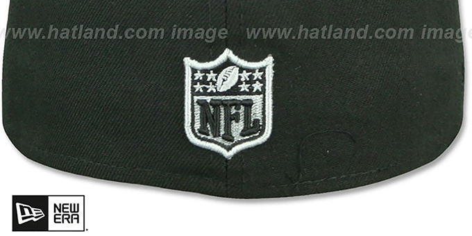 Raiders 'LEATHER POP' Black Fitted Hat by New Era