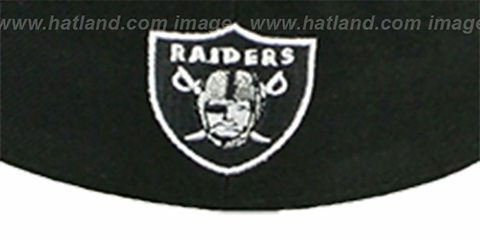 Raiders 'NFL 2T CHOP-BLOCK' Black-Grey Fitted Hat by New Era