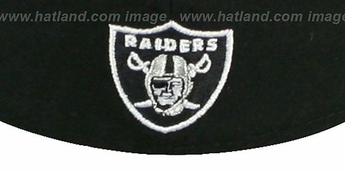 Raiders 'NFL FELTN' Black Fitted Hat by New Era