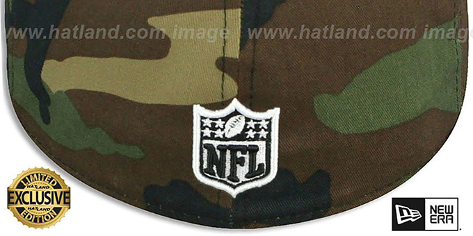 Raiders 'NFL TEAM-BASIC' Army Camo Fitted Hat by New Era
