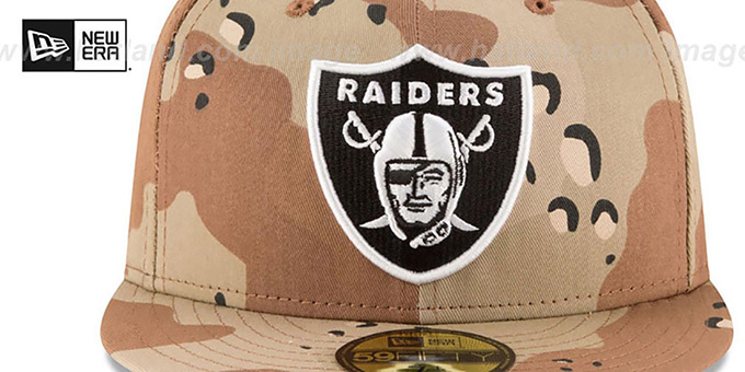 Raiders 'NFL TEAM-BASIC' Desert Storm Camo Fitted Hat by New Era