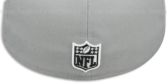 Raiders 'NFL TEAM-BASIC' Grey-Black-White Fitted Hat by New Era