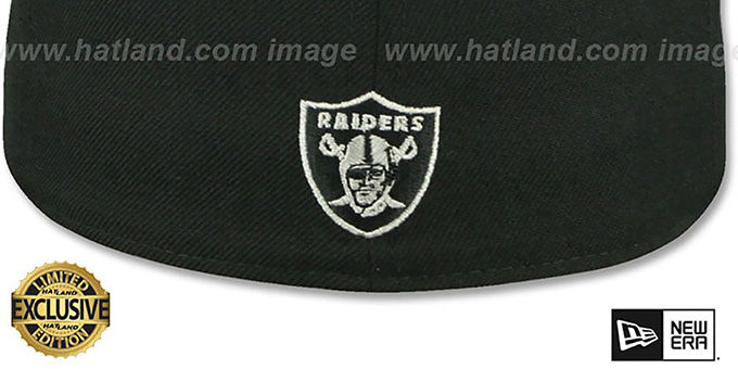 Raiders 'NFL TEAM-SCRIPT' Black-Grey Fitted Hat by New Era