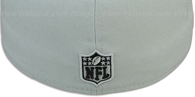 Raiders 'NFL-TIGHT' Grey-Black Fitted Hat by New Era