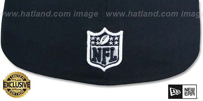 Raiders 'RAIDER-NATION' Navy-White Fitted Hat by New Era