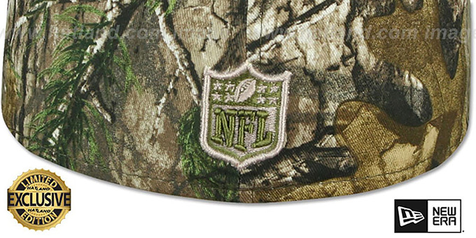 Raiders 'RAIDER-NATION' Realtree-Olive Fitted Hat by New Era