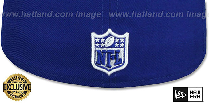 74f28652e ... Raiders  RAIDER-NATION  Royal-White Fitted Hat by New Era ...