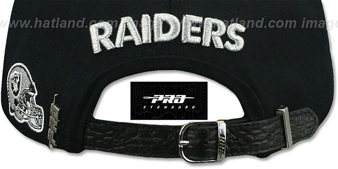 Raiders 'RAIDER-NATION STRAPBACK' Black Hat by Pro Standard
