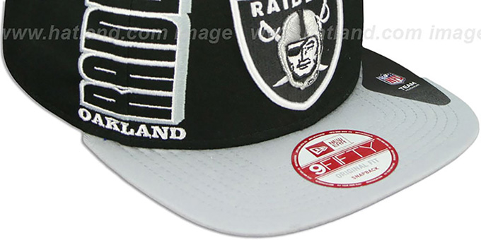 Raiders 'RALLYMARK SNAPBACK' Black-Grey Hat by New Era