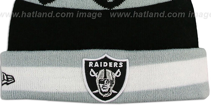 Raiders 'REPEATER SCRIPT' Knit Beanie Hat by New Era