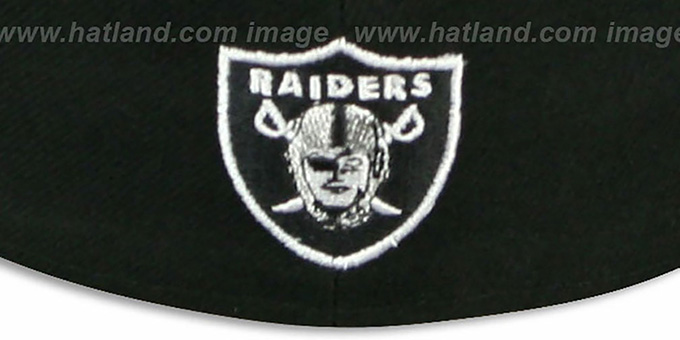 Raiders 'STACK-THE-BOX' Black Fitted Hat by New Era