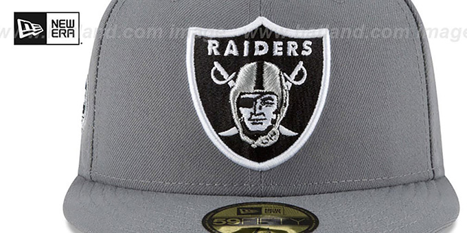 Raiders 'TEAM-SUPERB' Grey Fitted Hat by New Era