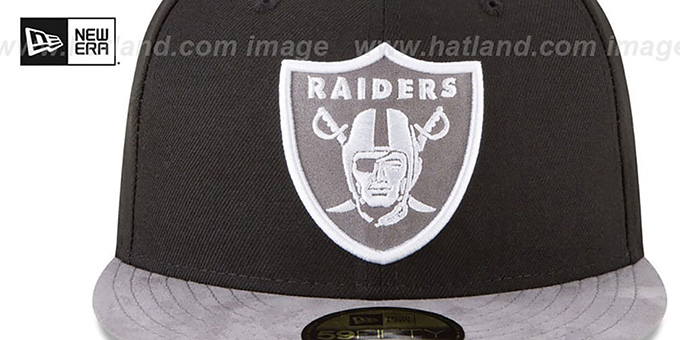 Raiders 'TONAL-CHOICE' Black Fitted Hat by New Era
