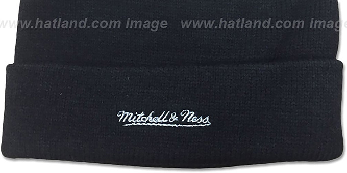 Raiders 'XL-LOGO BEANIE' Black by Mitchell and Ness