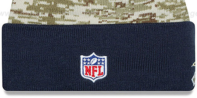 Rams '2015 SALUTE-TO-SERVICE' Knit Beanie Hat by New Era