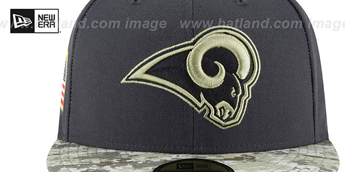 Rams '2016 SALUTE-TO-SERVICE' Grey-Desert Fitted Hat by New Era