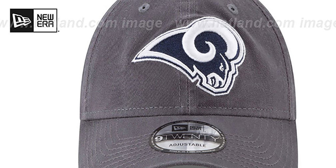 Rams 'CORE-CLASSIC STRAPBACK' Charcoal Hat by New Era