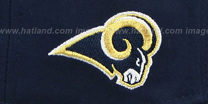 Rams 'NFL ONFIELD DRAFT' Navy Fitted Hat by New Era