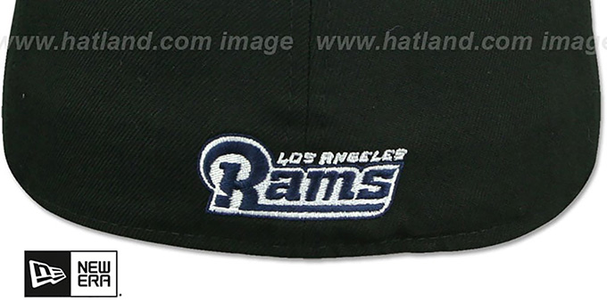 Rams 'NFL TEAM-BASIC' Black-Navy Fitted Hat by New Era
