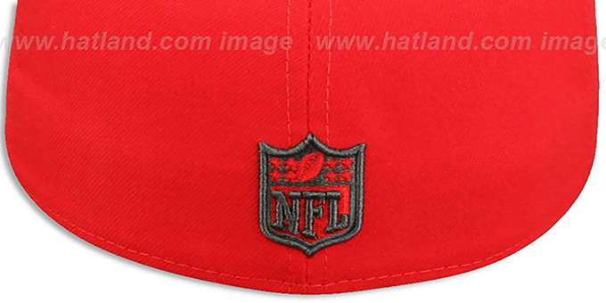 Rams 'NFL TEAM-BASIC' Fire Red-Charcoal Fitted Hat by New Era