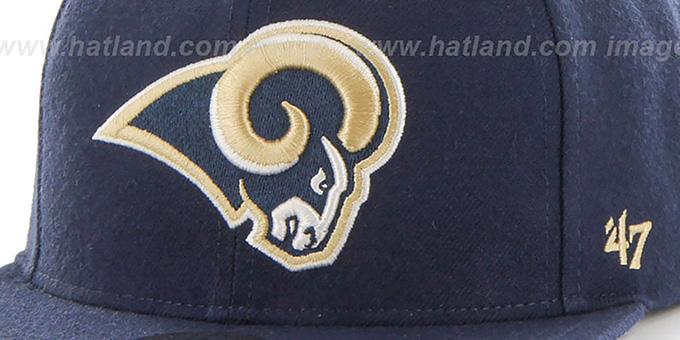 Rams 'SUPER-SHOT STRAPBACK' Navy Hat by Twins 47 Brand