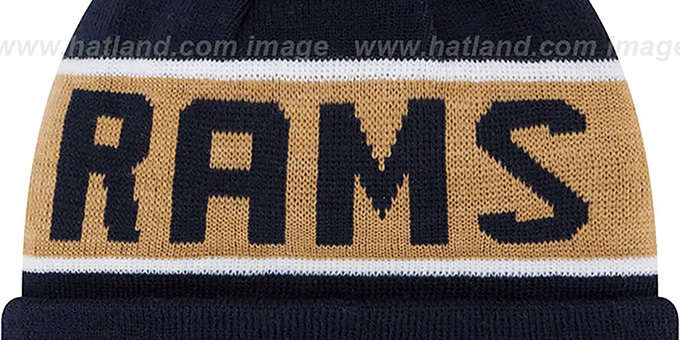 Rams 'THE-COACH' Navy Knit Beanie Hat by New Era