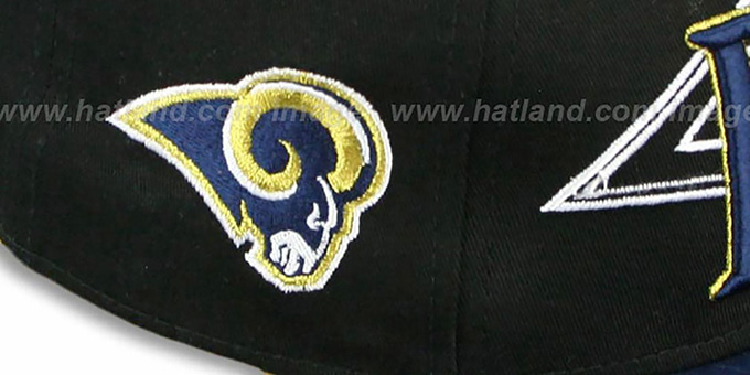 Rams 'THROUGH SNAPBACK' Black-Navy Hat by New Era